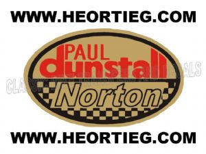Paul Dunstall Norton Tank and Fairing Transfer Decal D20084-5